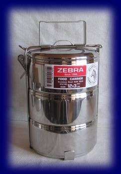 ステンレス フードキャリー12cm×3段 食器・お弁当箱