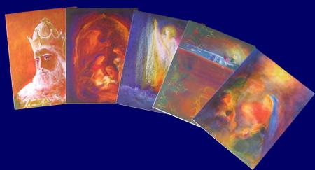 クリスマスカード 5枚セット いろいろなポストカード