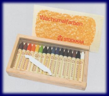 シュトックマー スティッククレヨン 16色木箱 みつろうクレヨン