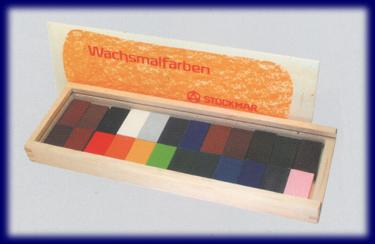 シュトックマー ブロッククレヨン 24色木箱 みつろうクレヨン