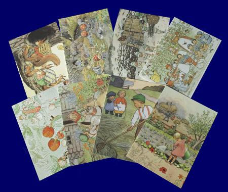 エルサ・ベスコフ ポストカード 8枚セット いろいろなポストカード