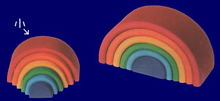 トンネル 虹色 小 木のおもちゃ