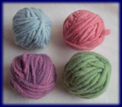 草木染めこども毛糸 パステルカラー4色 草木染め毛糸