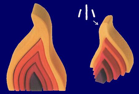 火のエレメント(小) 木のおもちゃ