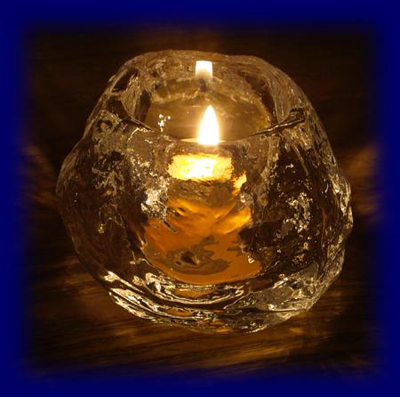 ロックアイス キャンドル 蜜蝋蝋燭