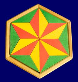 木枠付き ヘキサゴンパズル GRIMM'S Spiel & Holz Design パズル