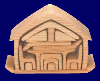 木製ちいさなおうち 家具付き 木のおもちゃ