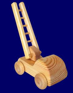 北欧の小さいはしご車 木のおもちゃ
