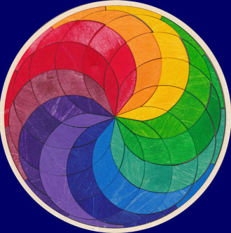 木製枠付き カラースパイラルパズル GRIMM'S Spiel & Holz Design パズル