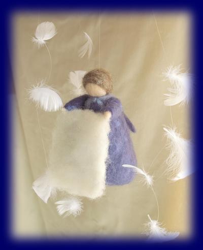 ホレおばさん 羊毛人形 ネイチャーコーナー