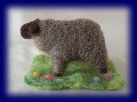 羊毛人形 羊(黒)