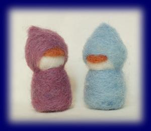 羊毛こびと 中 2人セット クラフト