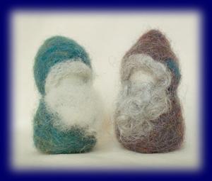 羊毛ひげのこびと 中  2人セット クラフト