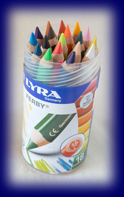 LYRA色えんぴつ ファルビー 18色PPボックス(軸カラー)