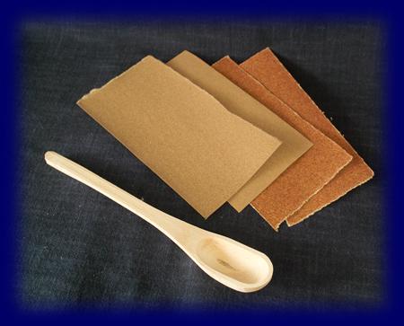 簡単マイスプーンキット粗削り(カバ) 手づくりキット