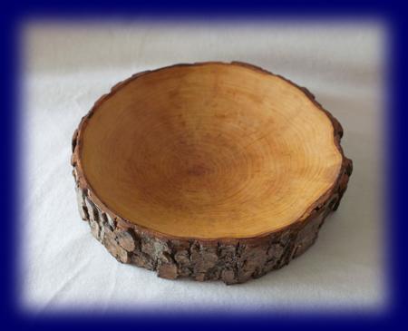 切り株のトレー 中 天然木の小物