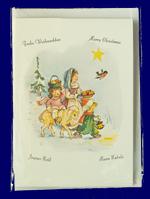 ポップアップカード・こどもたちの祝福 No.450 クリスマスカード・グリーティングカード