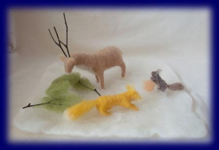 冬の動物たち ネイチャーコーナー
