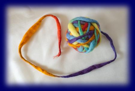 毛糸 カラーウールボール レインボーMX