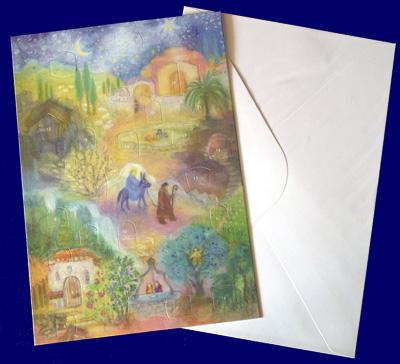 Mary's Little Donkey アドベントグリーティングカード アドベント・カレンダー