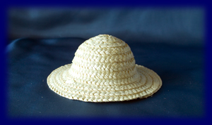 人形用 麦わら帽子 小(13cm)白 ウォルドルフ人形の小物、人形用帽子など