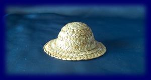 人形用 麦わら帽子 豆(9cm)生成 ウォルドルフ人形の小物、人形用帽子など