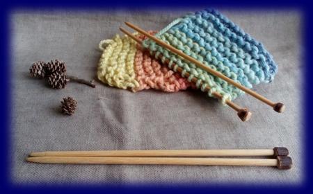 手作り棒針 草木染め毛糸