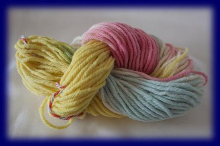 草木染め中太毛糸50g(パステル) 草木染め毛糸