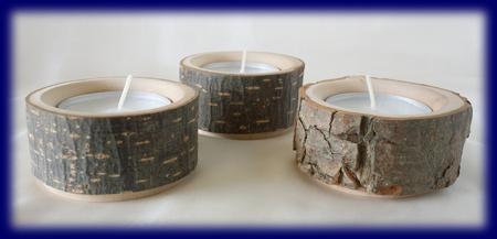 皮付き自然木 きりかぶのティーライトフォルダー 天然木の小物