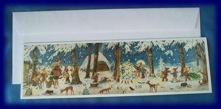 アドベントグリーティングカード 妖精の森 No.4211 アドベント・カレンダー