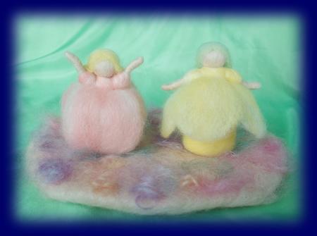 ネイチャーコーナー 春 花 妖精 羊毛人形