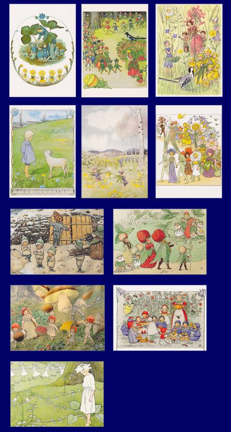 エルサ・ベスコフ ポストカード 11枚セット いろいろなポストカード
