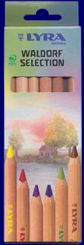 LYRAスーパーファルビー 色えんぴつ 軸白木 ヴァルドルフセレクション6色セット