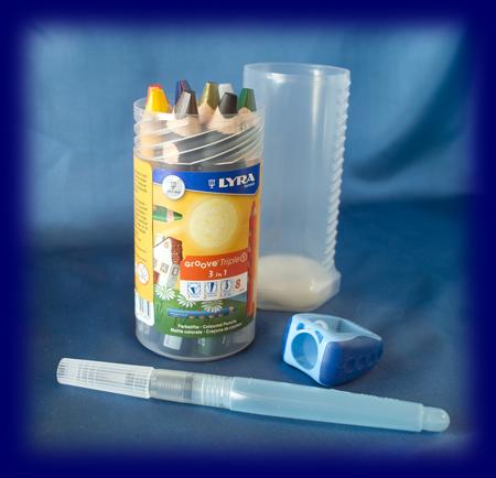 LYRAグルーヴ GROOVE トリプル ワン 8色セット 水筆付き 教材