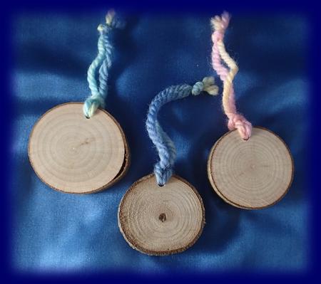 木のなふだ 3個入り 手仕事・材料