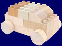 もくロック BU-BU 無垢材 無塗装 木製 ブロック 車