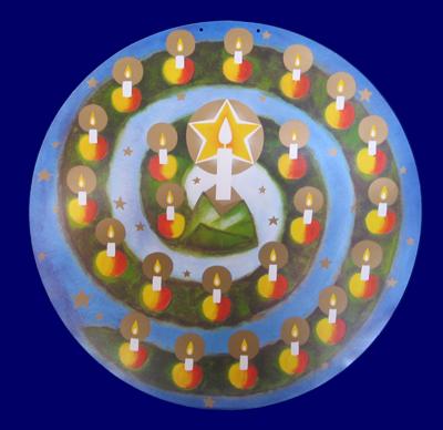 アドベント・カレンダー(円型) ともしび クリスマス