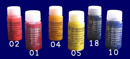 シュトックマー水彩絵の具 三原色20ml 6本セット 教材 幼児教育