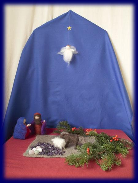 クリスマス ネイチャーコーナー 羊毛 人形 アドベント