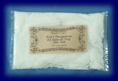 粗塩タイプ420g[Rico's Pangasian All Natural Fine Sea Salt]