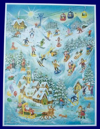 アドベント・カレンダー ゲレンデサンタ No.70114 雑貨 クリスマス