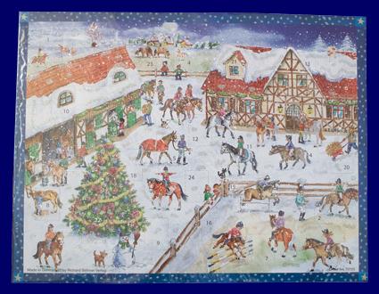 アドベント・カレンダー 乗馬 No.70125 雑貨 クリスマス
