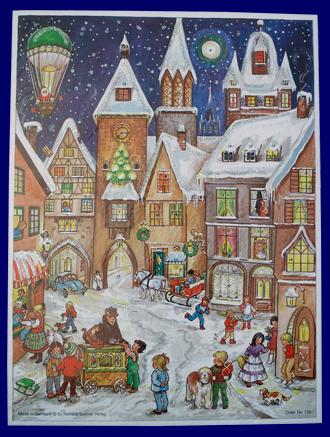 アドベント・カレンダー バルーンサンタ No.726 雑貨 クリスマス