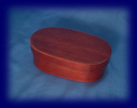木曽檜 曲げわっぱ小判型1段(小) お弁当箱 雑貨 漆器