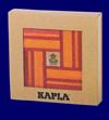 KAPLA ブック付き カラー40ピース 赤セット つみ木 おもちゃ 幼児教育