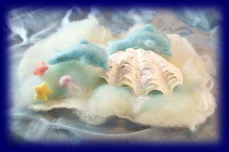 羊毛人形 夏 海 ネイチャーコーナー
