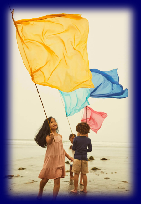 (新)プレイシルク 90×90cm 各色(1色) 遊び布 おもちゃ 幼児教育