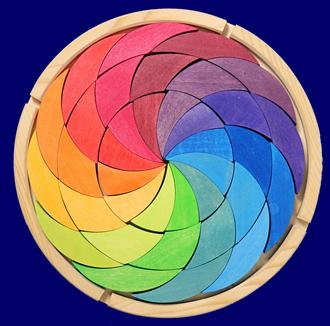 木枠付きパズル(厚) レインボーホイール GRIMM'S Spiel & Holz Design パズル おもちゃ