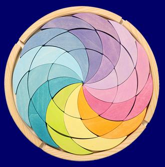 木枠付きパズル(厚) パステルカラーホイール GRIMM'S Spiel & Holz Design パズル おもちゃ
