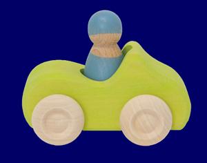 こびとのくるま(1人乗り)きみどり 車のおもちゃ
